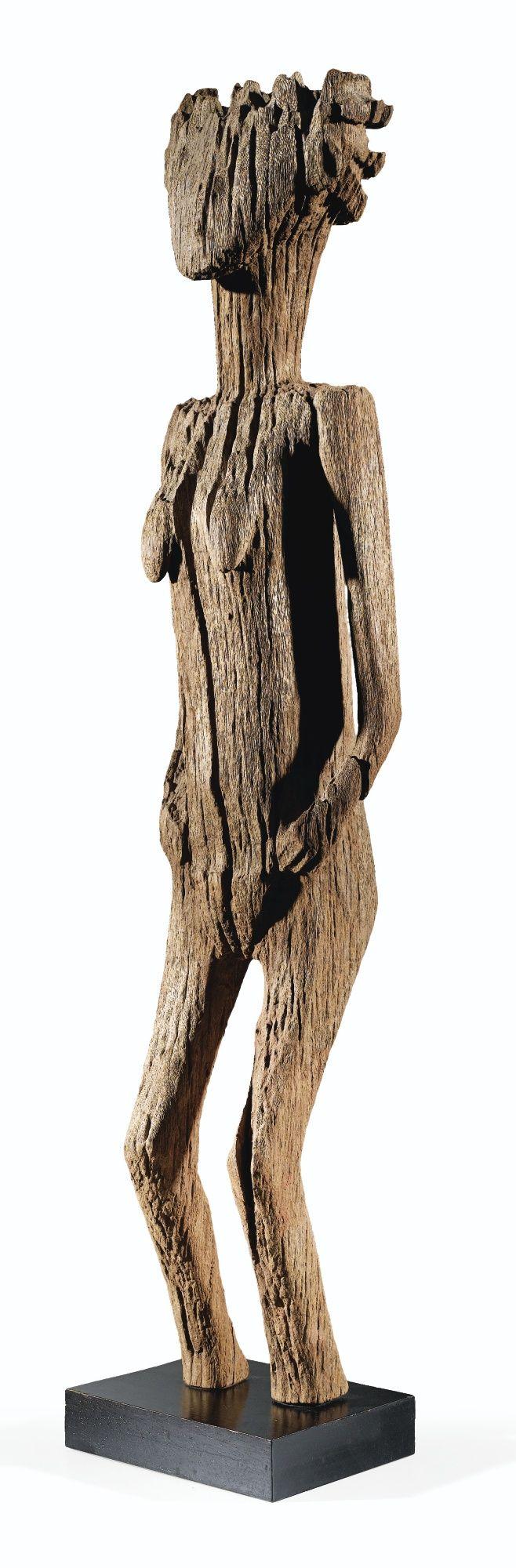 STATUE, SAKALAVA, MADAGASCAR SAKALAVA FIGURE, MADAGASCAR H. 106 cm COLLECTION FRANÇOISE ET JEAN CORLAY – ARTS D'AFRIQUE Sotheby's, Paris, 18 June 2013