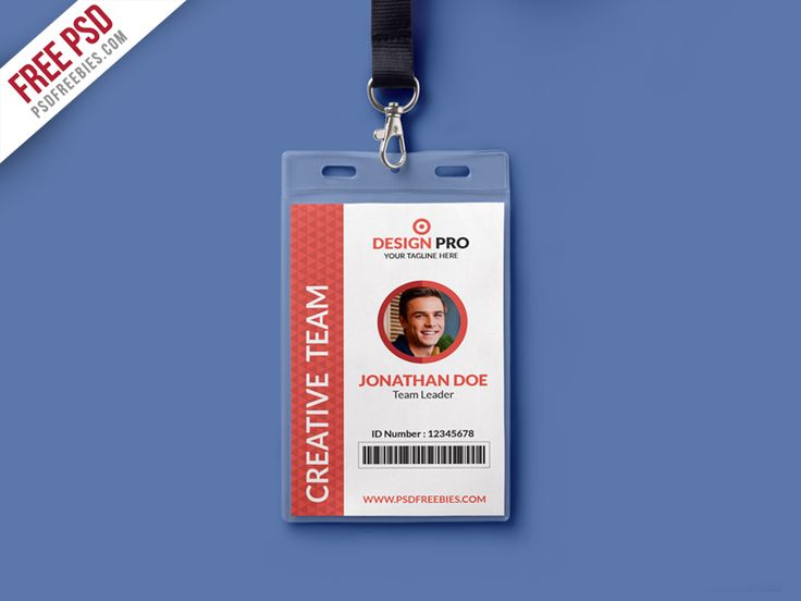17 best 100 Employee Card Template images on Pinterest Card - id card psd template