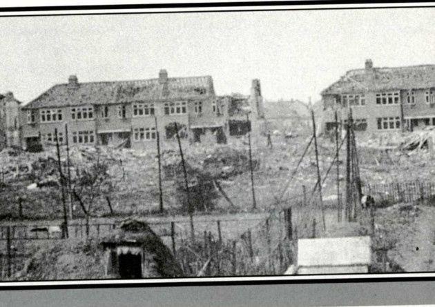 19 April 1941 worldwartwo.filminspector.com Romford London England Blitz damage