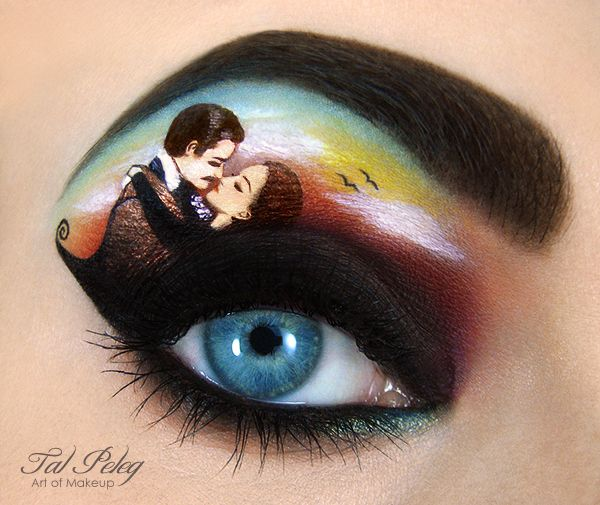 Gone With the Wind. Israeli makeup artist Tal Peleg recreates scenes from popular fairy tales and movies with amazing detail.