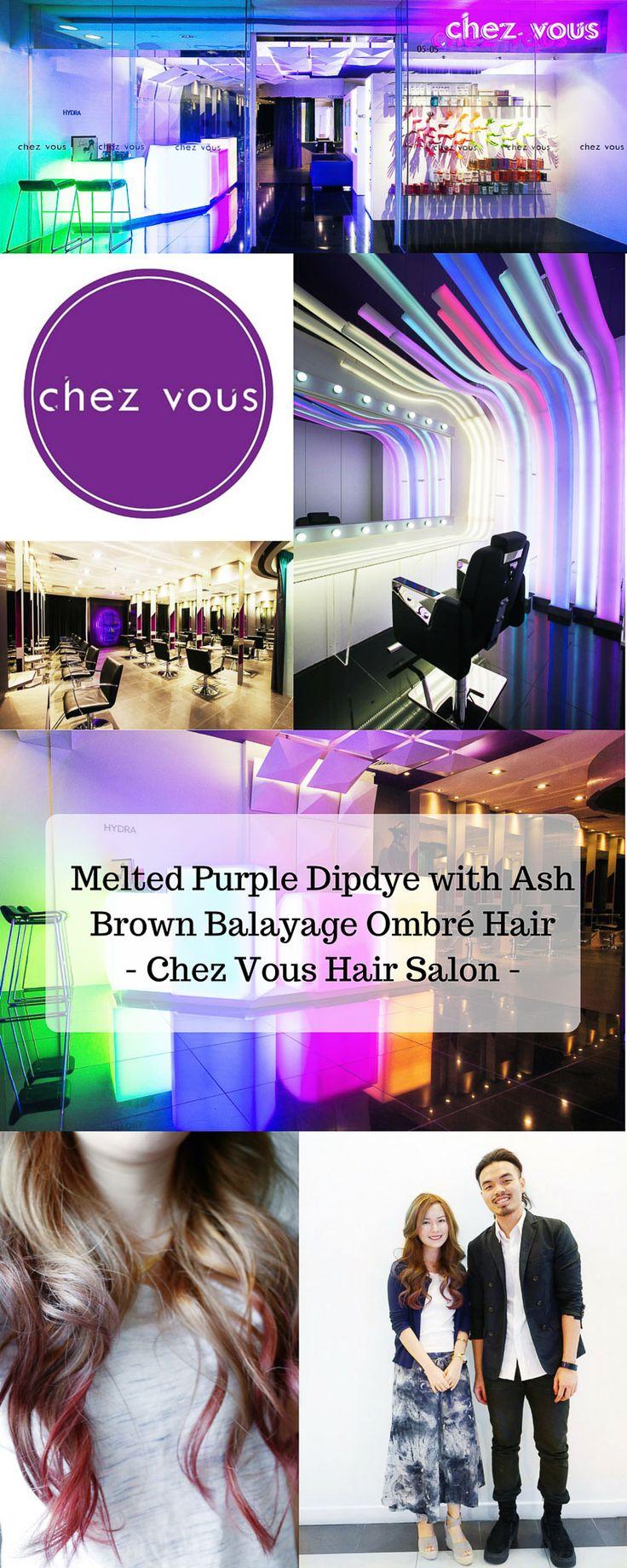 Chez Vous Hair Salon - Balayage Ombré Purple Hair