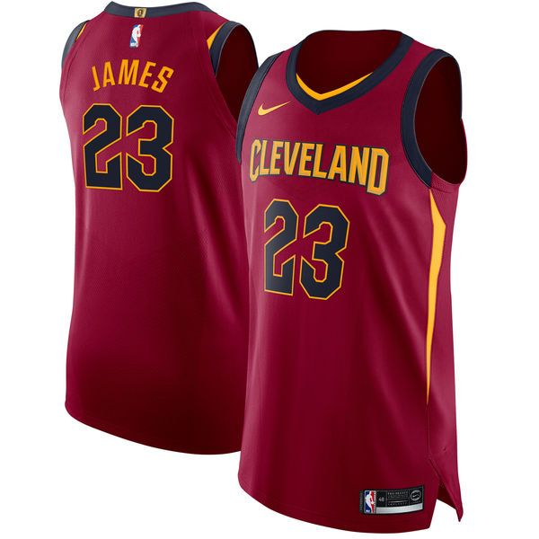 8a772cbe23f Nike Cavaliers  23 LeBron James Red NBA Authentic Icon Edition Jersey