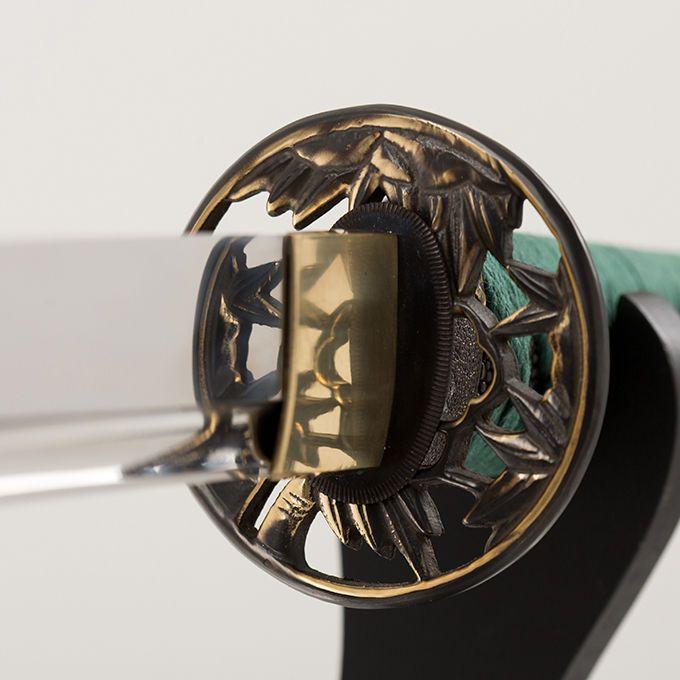 Japanese Samurai Ninja Sword Blade Traditional Katana Feature BAMBOO LEAF (竹葉)