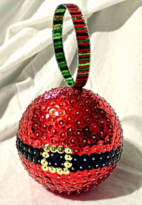 personalized christmas ornament sequin by stormsleadtorainbows
