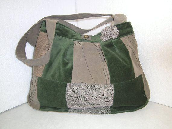 patchworktasche,grün