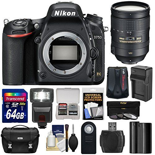Nikon D750 Digital SLR Camera Body with 28-300mm VR Lens Kit Battery and Accessories (14 Items)