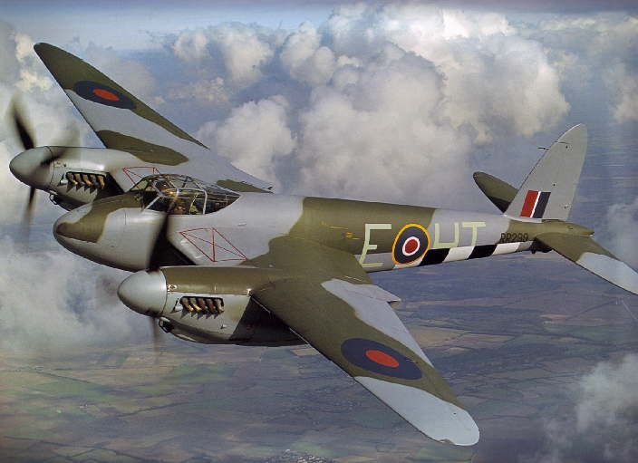 The De-Havilland Mosquito is by far my favourite aircraft of world War Two. When it was introduced into service in 1942, it was the fastest aircraft in RAF control. It was an incredibly versatile aircraft, with roles ranging from photo-reconnaissance to night fighter.