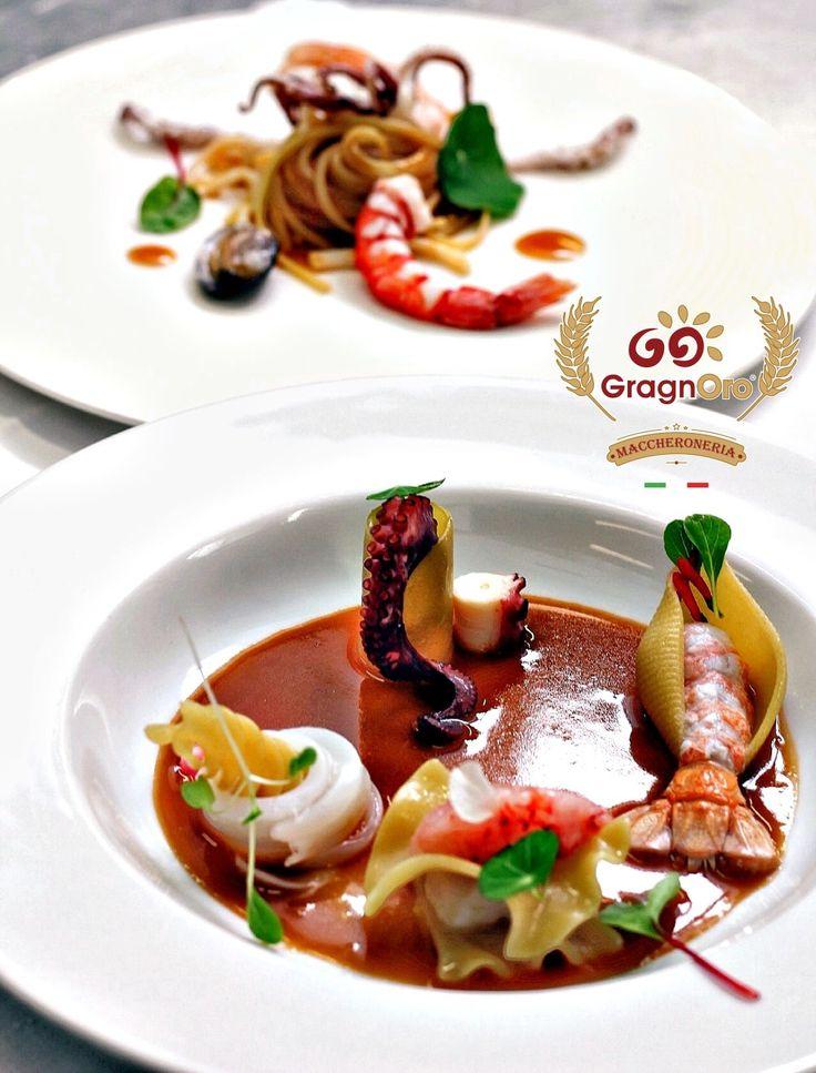 Rivisitazione dello chef della Pescatora con Conchiglioni, Paccheri, Lasagnacce, Eliconi... ovviamente tutti formati di pasta Gragnoro.