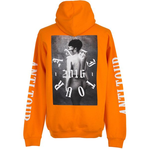 Sweat RIHANNA ($63) ❤ liked on Polyvore featuring tops, hoodies, sweaters, clothing - hoodies, jackets, hoodie sweatshirts, hooded sweatshirt, hooded pullover sweatshirt, sweatshirt hoodies and orange hooded sweatshirt