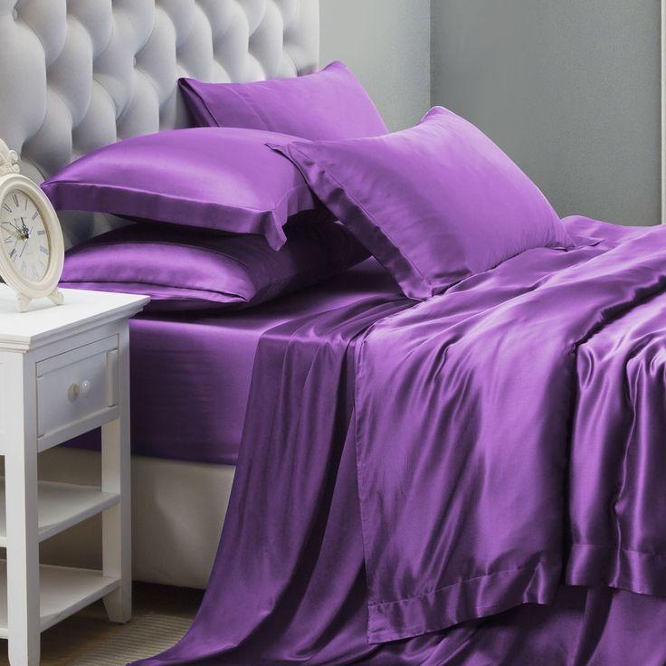 25MM Mulberry Silk Bed Linen   6pc Silk Bed Linen Sets