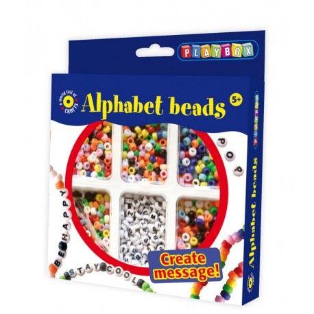 Gioco creativo giocattolo set kit bijoux con le perline alfabeto