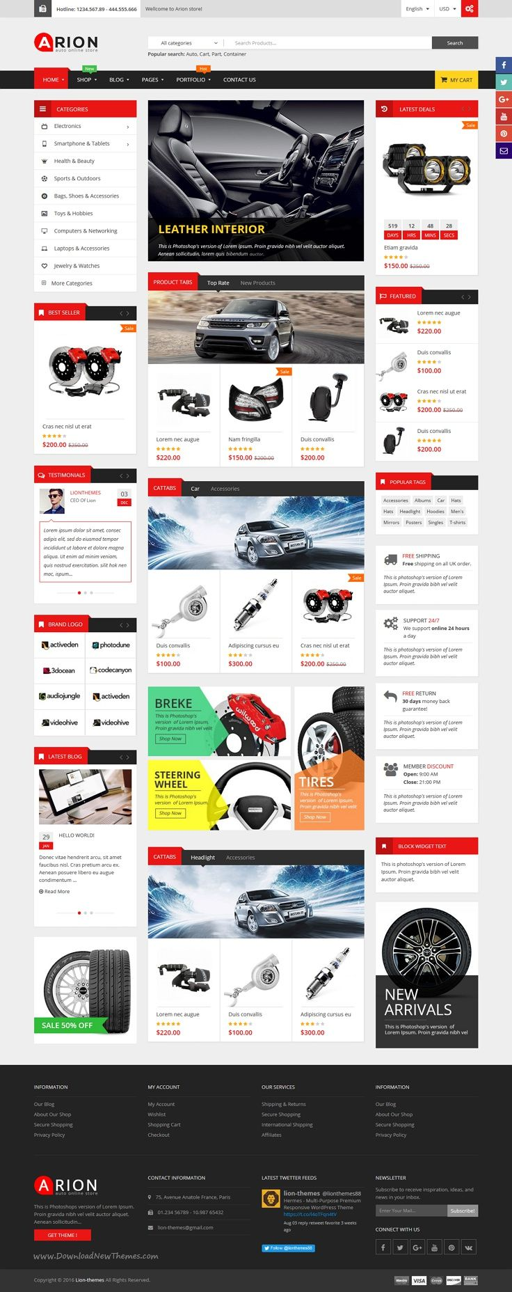 Arion is a clean and modern responsive #WordPress #template for #automobile #car shop eCommerce website with 3 unique multipurpose homepage layouts download now➯ https://themeforest.net/item/arion-responsive-multipurpose-wordpress-theme/16461085?ref=Datasata