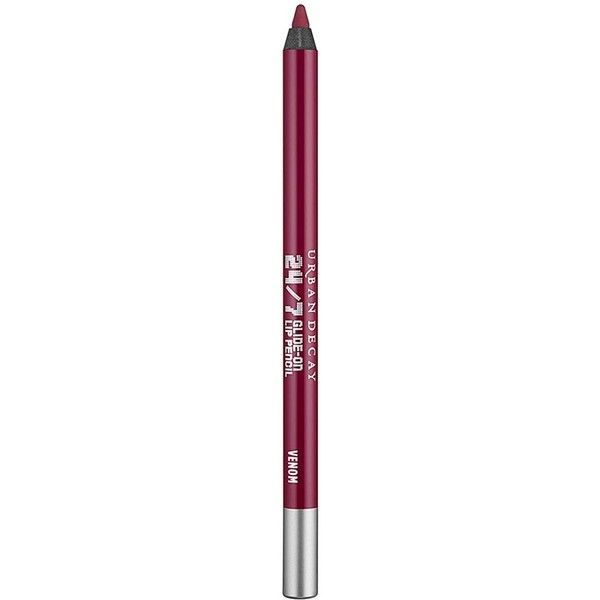 Urban Decay 24/7 Glide-On Lip Pencil - Colour Venom ($19) ❤ liked on Polyvore featuring beauty products, makeup, lip makeup, lip pencils, lip pencil, lip gloss makeup, urban decay lip pencil, urban decay lip liner and urban decay