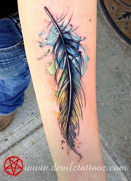 watercolor feather tattoo @Jerra Copp Copp Copp Copp Copp Copp Copp Copp Copp Copp Hammerschmidt Horrocks