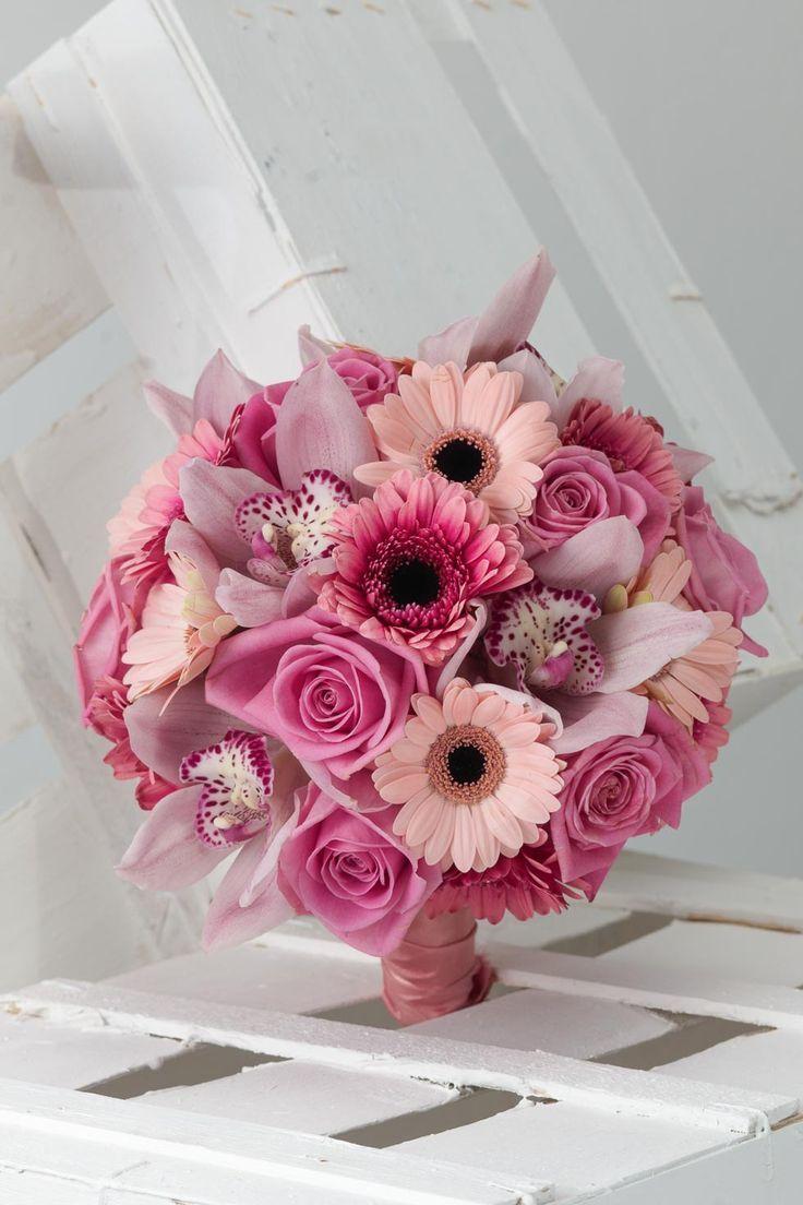 Brautstrauss Rosa Und Pink Buchete Si Lumanari Pinterest