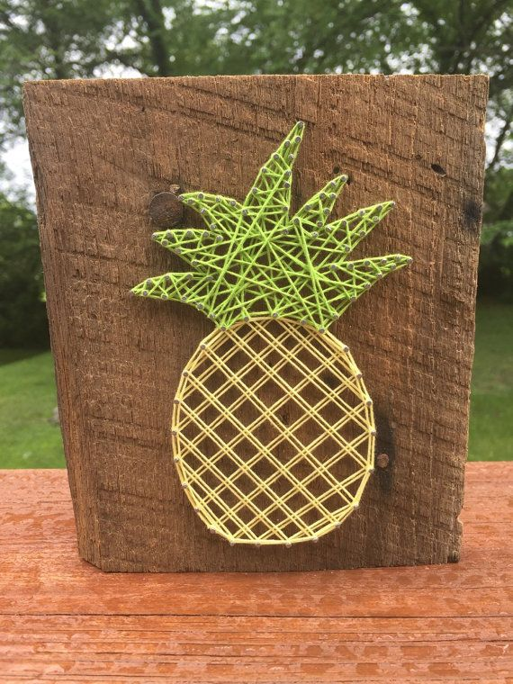 Small Pastel Pineapple String Art by OwenberryCrafts on Etsy