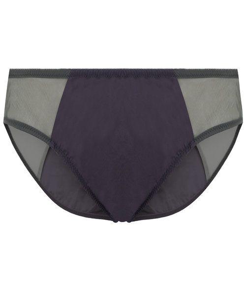 Rossell England Pylon cotton and silk knickers in black #knickers #blackknickers #luxurylingerie