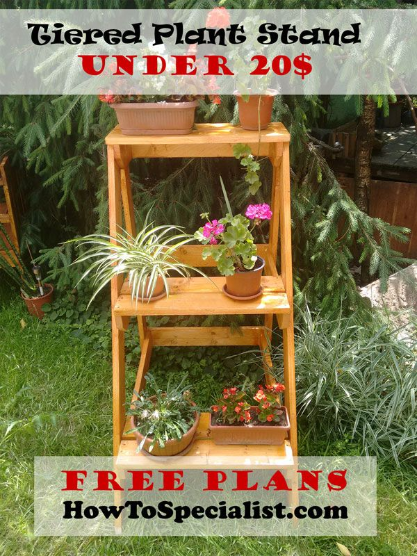 37 best plant stand plans images on pinterest plant stands woodworking projects and outdoor - Ladder plant stand plans free ...