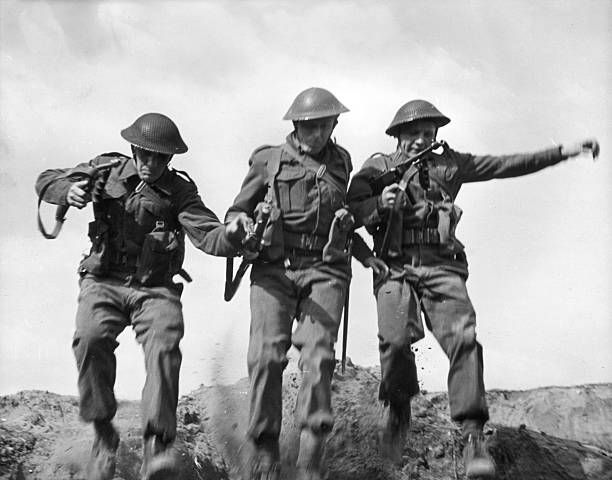 Czechoslovakian troops carrying out commando practice in Britain during World War II