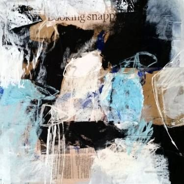 "Ines Klich; ""ligth blue"" , 15.7"" x 15.7"""