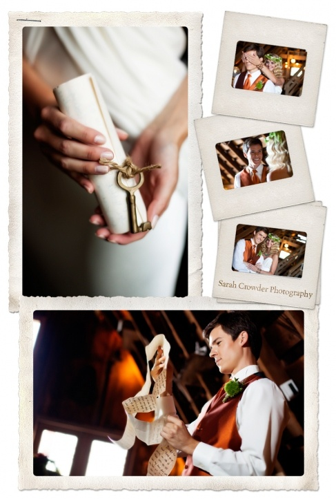 Hobbit First Look. Our bride didn't give the groom a contract,  but a lengthy love letter. :)