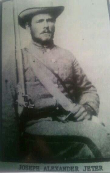 Joseph Alexander Jeter paroled at Appomattox Virginia April 1865 -My 2 × great uncle.