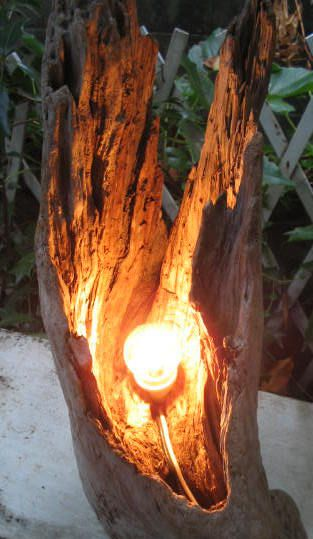 流木ランプ 流木インテリア