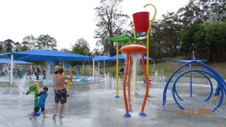 New Vortex Aquatic Playgrounds Splashpad at Newmarket Swimming Pool (Brisbane) www.VortexAquaticPlaygrounds.com.au