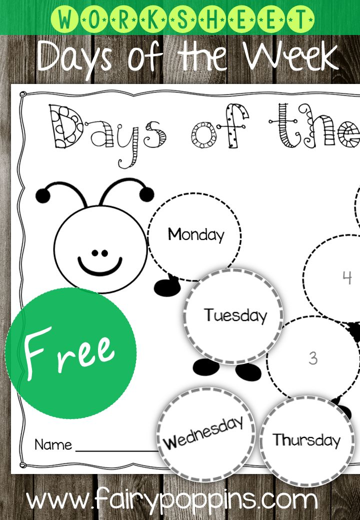 FREE Days of the Week - Fairy Poppins - Fairy Poppins ...