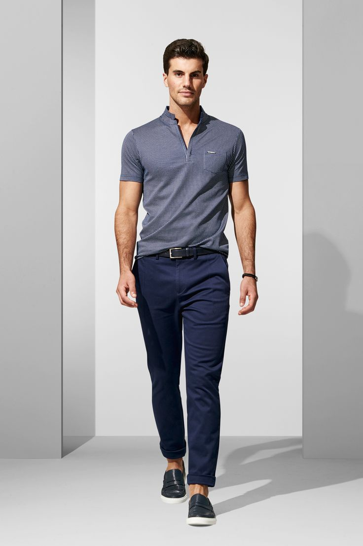 The Navy Square Polo. Shop the look at http://www.calibre.com.au/lookbook/look-374