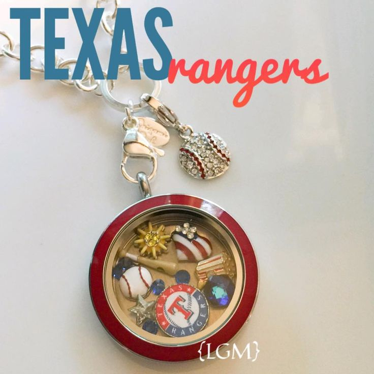 #Texas #Rangers #MLB fan #Gift from Origami Owl® All Licensed Major League #Baseball Charms $7 available 6/1/15. #MajorLeagueBaseball #TexasRangers
