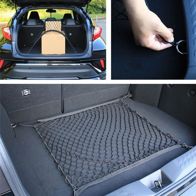 Car Trunk Cargo Net Mesh Luggage Elastic Hook Fit For Audi A1 A3