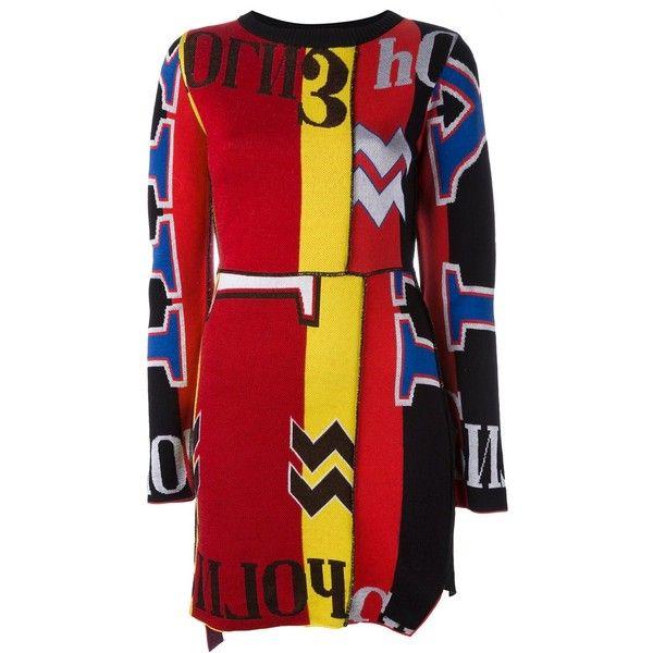 Diesel longsleeved short dress ($485) ❤ liked on Polyvore featuring dresses, black, long-sleeve mini dress, multi color mini dress, multi colored dress, long sleeve dress and longsleeve dress