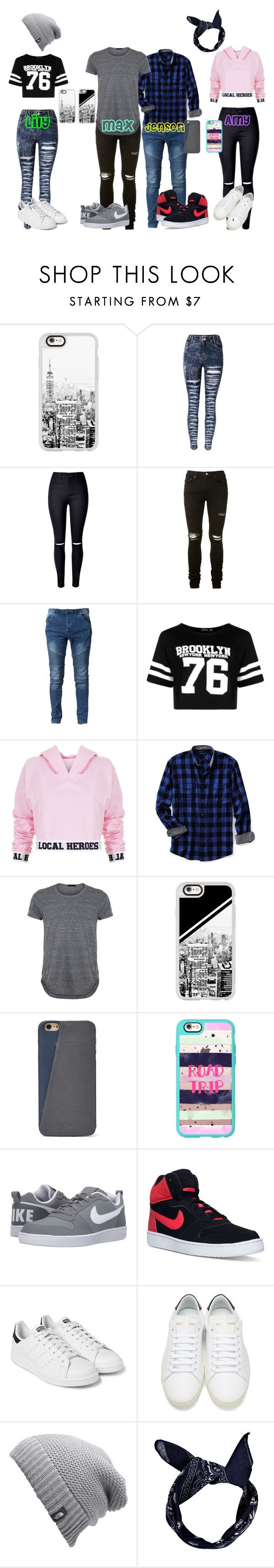 """""""Boyfriends Be Like"""" by poppylilyg ❤ liked on Polyvore featuring Casetify, AMIRI, Boohoo, Local Heroes, Lands' End, FOSSIL, NIKE, adidas Originals, Yves Saint Laurent and The North Face"""
