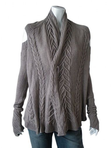 Designer: Delphine Wilson    Item: Cardigan    Composition: 50% Cashmere 50% Silk    Made in Italy    Description:    Cardigan wide and completely open on the front with a pin to fasten, Vneck, handmade, cable pattern, ahole on the shoulders, all ecofriendly      > Need Help?    Price $255.00