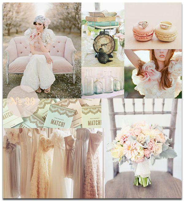 Pastel colors. Different bridesmaids dressesDifference Bridesmaid Dresses, Inspiration, Pastel Wedding, Pastel Cerveza Tennis, Pastel Colours, Mood Boards, French Wedding, Wedding Colors, Pastel Colors