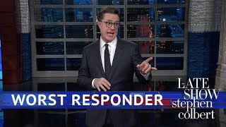 """Late night: Trump's living in a 'fantasy world' for saying he'd have 'run in' to Fla. school - Late night hosts Stephen Colbert, Seth Meyers and Trevor Noah are joining the chorus of celebritiesslamming Trump for his notion that he would've """" run in (to Marjory Stoneman Douglas High School in Parkland, Fla.)even if I didn't have a weapon.""""  """"At this point, I go to bed every night believing there's nothing he could say or do that could possibly surprise me,""""Colbert told viewers. """"Then…"""