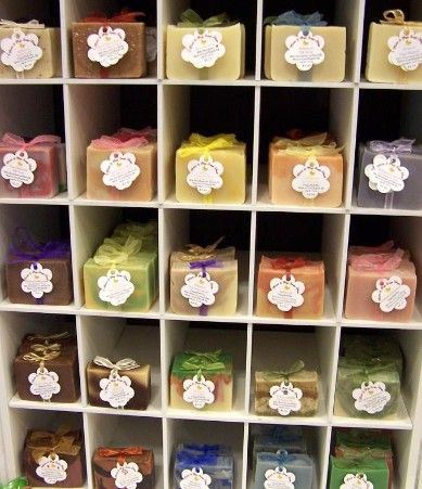 soap shop - Google Search Like the simplicity of the little labels and cubby hole display.  The website also features a custom order page that is a great idea.