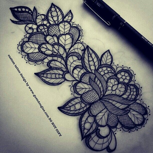 Lace For Filler Tattoos Pinterest Lace