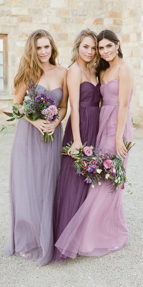 Look 2018 12 Charming Lavender Bridesmaid Dresses Lavender