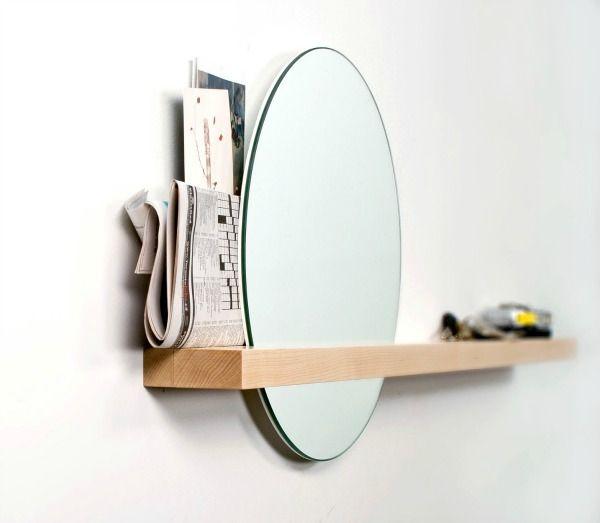 25 beste idee n over ronde spiegels op pinterest kleine ingang ingangs plank en kleine gangen - Spiegel voor ingang ...