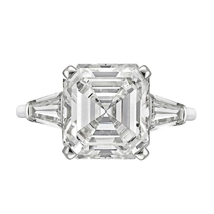 5.26 Carat Emerald-Cut Diamond Ring...do we ever tire of giant diamonds? Truly, God's gift to women.
