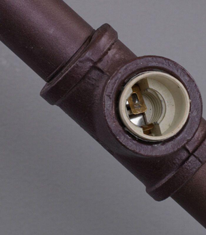 Industrial Rustic Steampunk METAL PIPE Lamp Vintage Loft Arrow Pipe Wall Lamp…