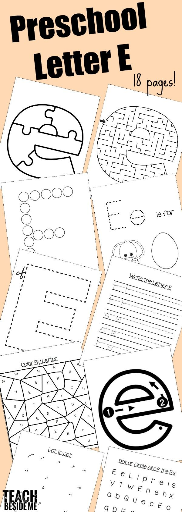 Long e coloring pages - Preschool Letter E Activities