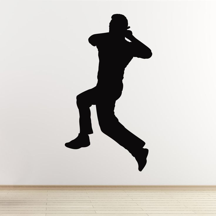 Cricket Wall Sticker - Spin Bowler Cricketer - Boys Bedroom Sports Themed Decal | eBay