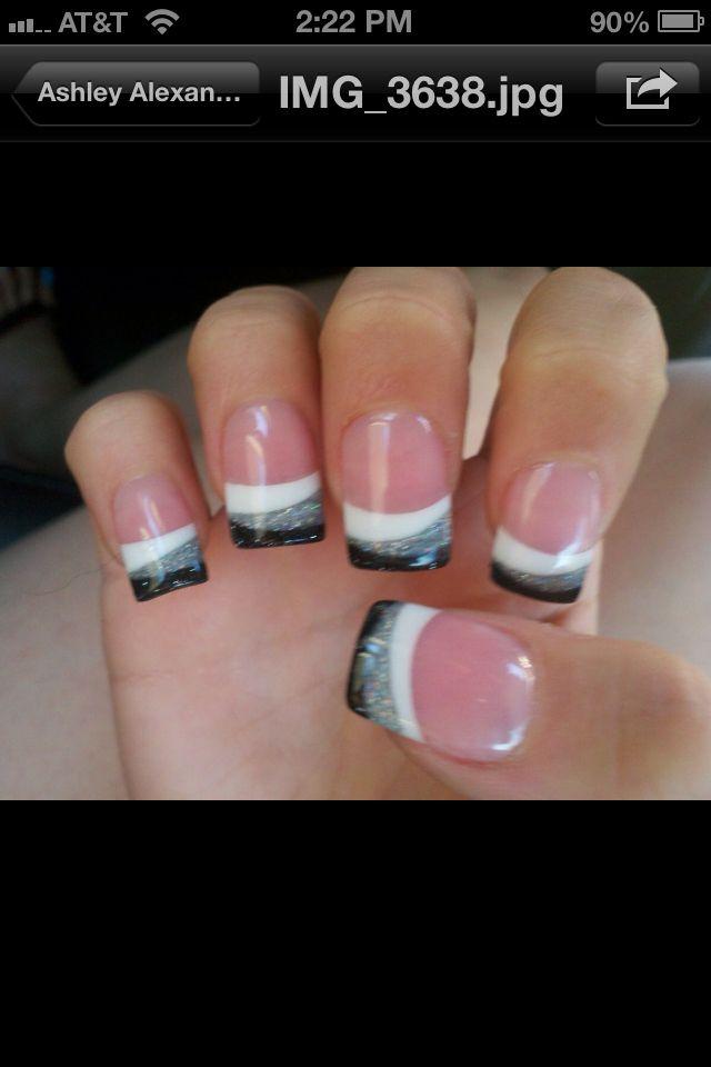 nail design for next black Wednesday!