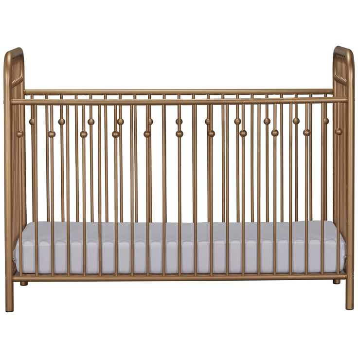 Inspired by antique wrought iron cribs, the Monarch Hill metal collection is styled along Victorian lines, with gently arched tubes and beautifully crafted ball castings on the spindles. Non-toxic, gold painted steel tubes are smooth and strong. They will resist scuffs and scratches while providing stability at every mattress height. Mattress support is adjustable so children are safe and easy to reach as they grow. Like all Little Seeds products, this purchase helps support a major…