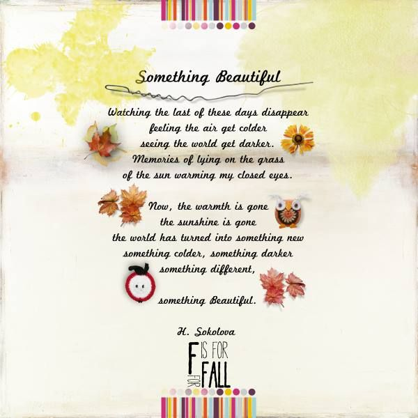 Something Beautiful - The NEW fabulous Hello Fall Bundle By Natali @ Scrapbookgraphics.
