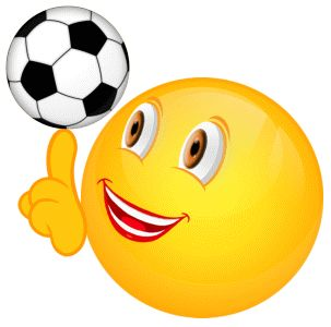 Smiley – Fussball Drehung