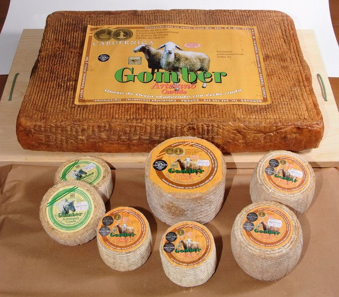 Award wining cheese from Quesos Gomber in the town of Sopeña , district of Cabuérniga.